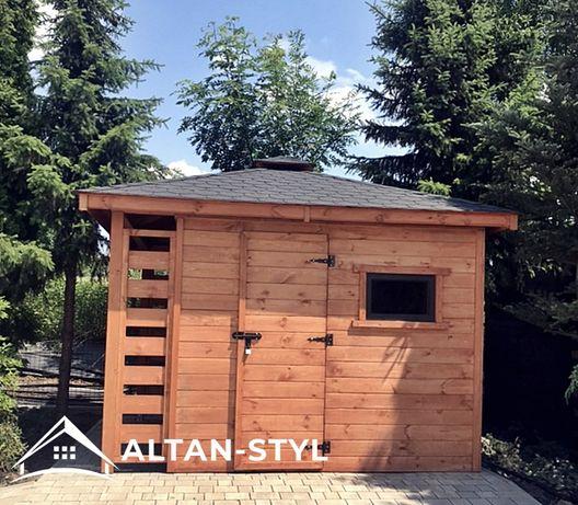 Domek narzędziowy gospodarczy z drewutnią MILAN 3x3,5m PRODUCENT