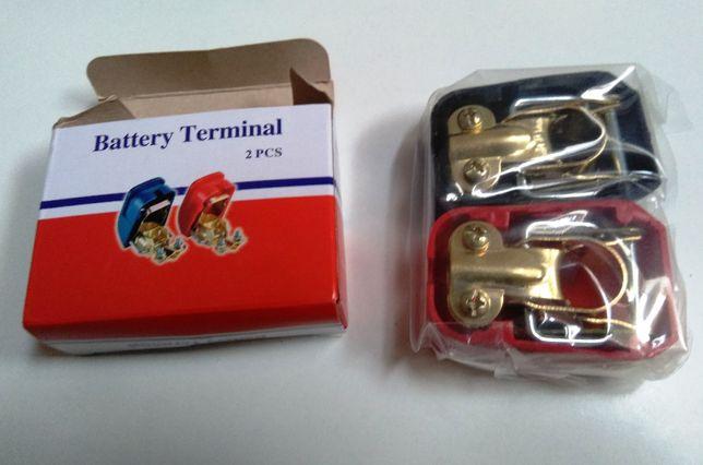Interruptor rápido e protecção para bornes de bateria