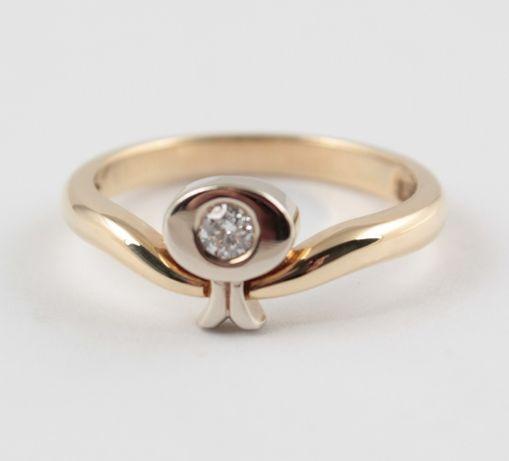 Распродажа! Кольцо золотое с бриллиантом