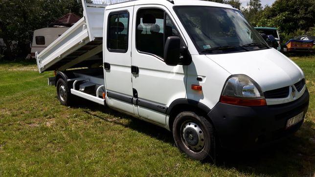 Renault Master Wywrotka 7 osób 2009 r klima elektryka .zamiana