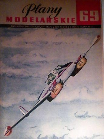 plany modelarskie 69 samolot L-200 MORAVA
