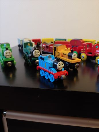 Drewniany pociąg i tory , 130 elementów