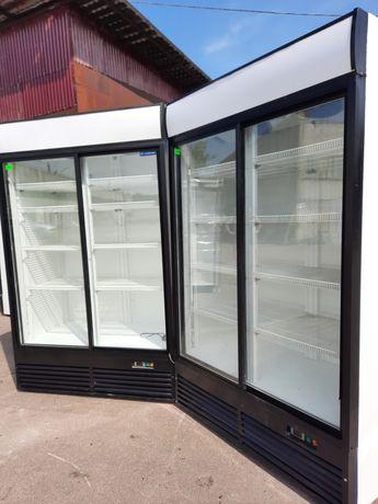 Холодильный шкаф двухдверный б/у Широкий 130 см Super Large