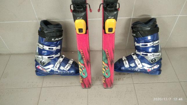 Лыжи BLIZZARD + ботинки LANGE L10 42-43 размера (10)