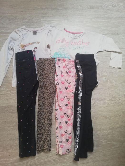 Paczka ubrań bluzki długi rękaw spodnie dziewczynka legginsy h&m 116 Rybnik - image 1