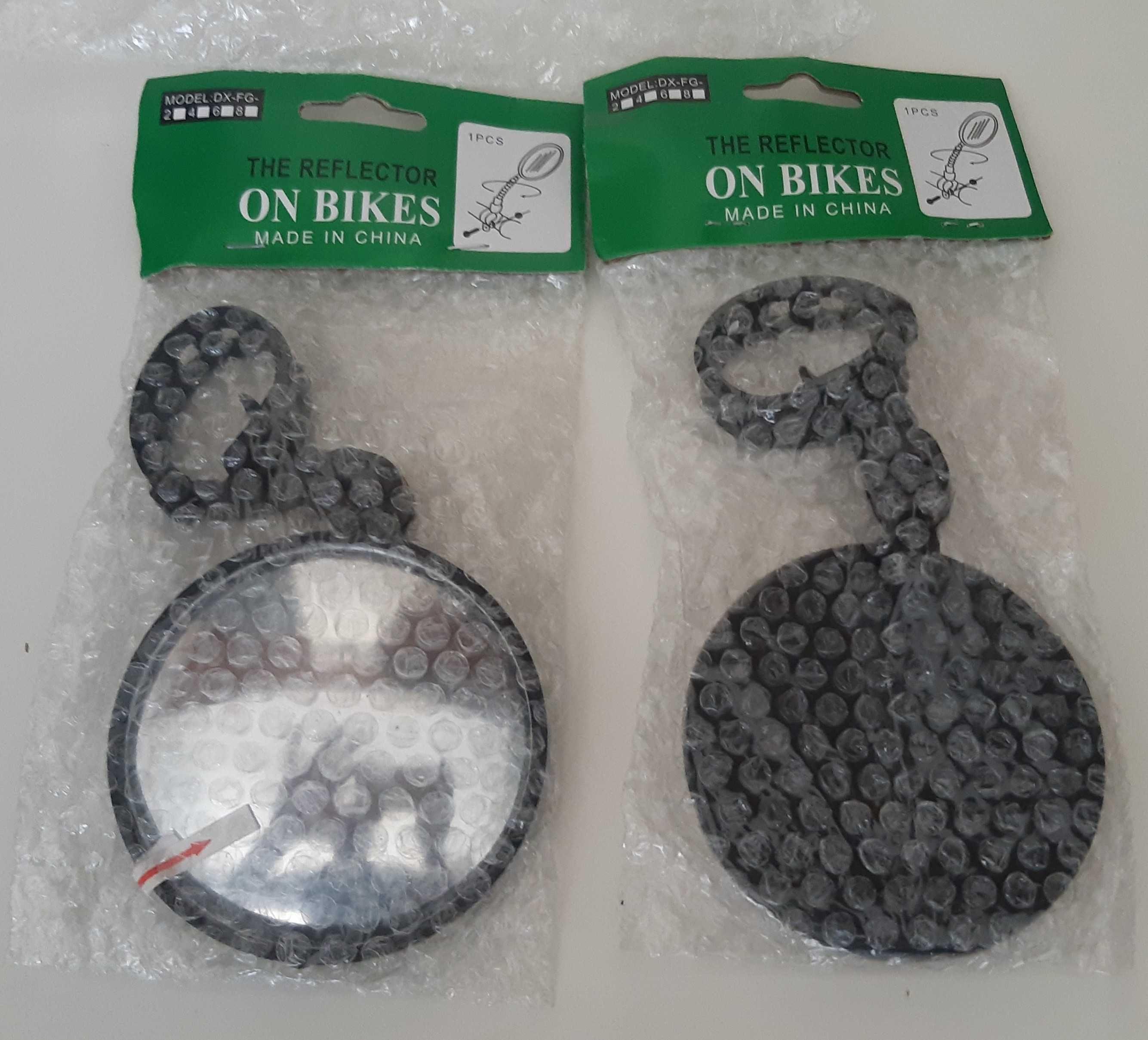 Par de Espelhos Retrovisores Novos 8cm p/ Bicicleta Bike Bicla