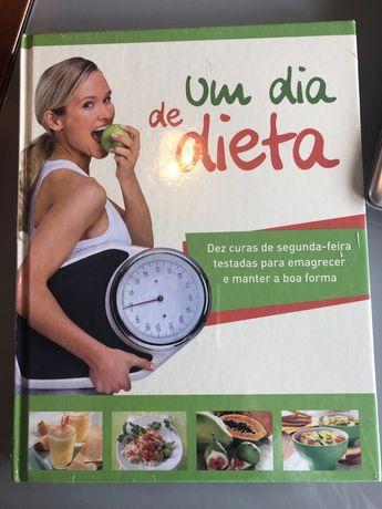 """Livro """"Um dia de dieta"""". Novo, ainda com o plástico protector"""