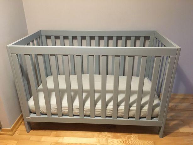 łóżeczko z drewna bukowego 60x120 cm