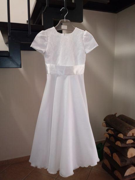 Sukienka komunijna biała, torebka, komunia alba