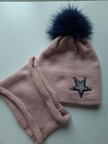 Комплект шапка з хомутом
