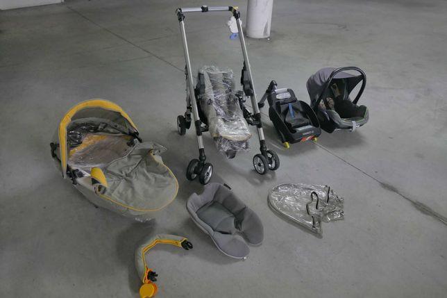 Conjunto de bebé c/ovo, alcofa, carro de passeio e isofix   MAXI-COSI