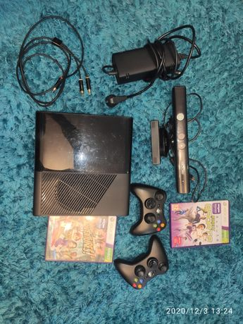 Xbox 360 E Kinect, 2 pady, dysk 250GB +Extra Bonus