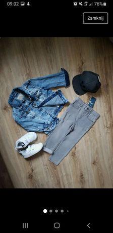 NOWE rurki 98 Mango 104 jeansy dżinsy spodnie dżinsy szare