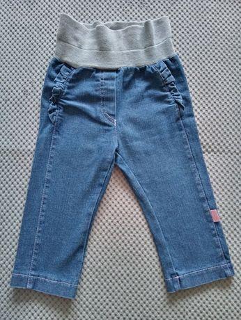 Spodnie jeansowe dziewczęce r.68