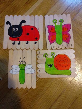 Puzzle, układanka, puzzle drewniane, montessori, pomoce dydaktyczne,