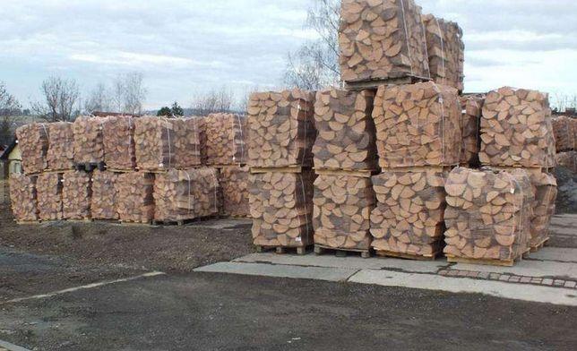 Drewno kominkowe BUK , GRAB układane na PALETACH . Transport za darmo
