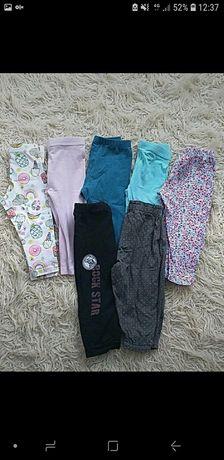 Komplet zestaw legginsow/spodni 74/80