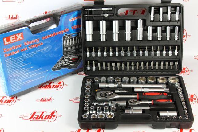 Польский набор инструментов LEX 108 предметов, головки, ключи