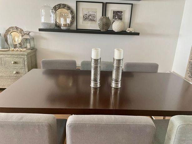Mesa de jantar extensível madeira e aço da conceituada marca BoConcept