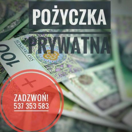 Pożyczka prywatna, bez sprawdzania baz dla zadłużonych