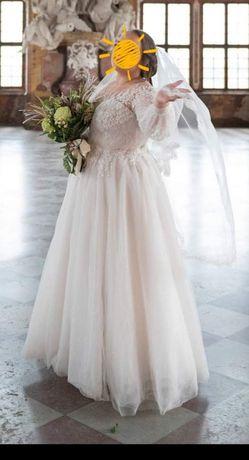 Suknia ślubna z gorsetem rozmiar 46