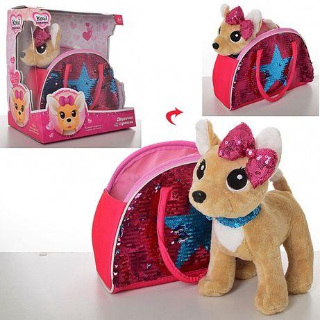 Игрушка деткая Музыкальная собачка в сумочке Кикки