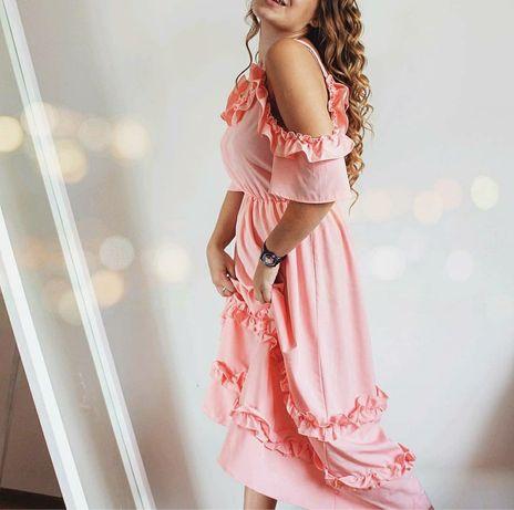 Красивейшее персиковое платье