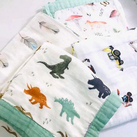 Муслиновый плед дешевле пелёнки!!! Пеленка муслинка одеяло полотенце