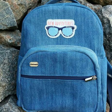 Джинсовый рюкзак, рюкзачок, рюкзак