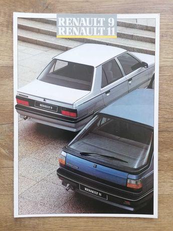 Prospekt Renault 9/11 TL/GTL GTD TX  TXE GTX Turbo