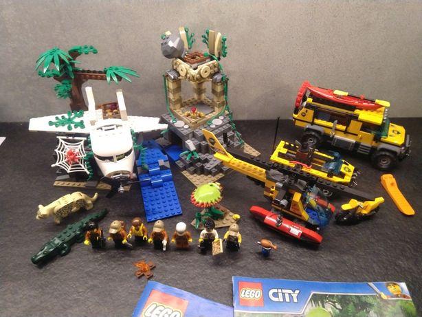 Lego Jungle 60161 City Baza w Dżungli duży zestaw helikopter samolot