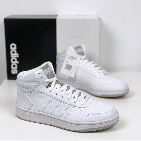 Кроссовки ботинки мужские Adidas Hoops Mid 2.0 новые оригинал белые