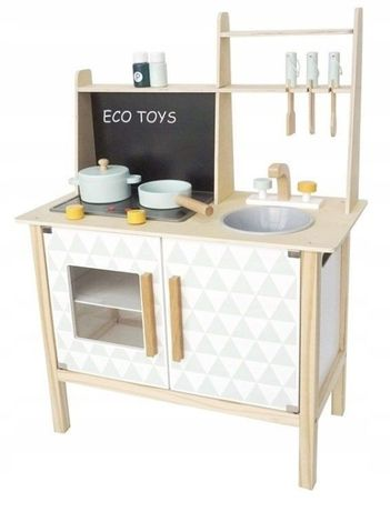Drewniana kuchnia dla dzieci z tablicą ZAG1037
