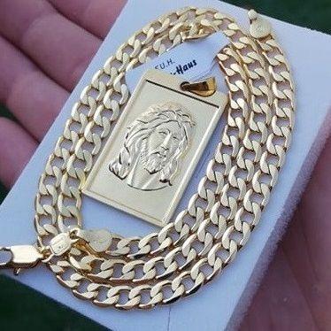 Łańcuszek pancerka + medalion 24 karaty GWARANCJA PREZENT Dzień Ojca
