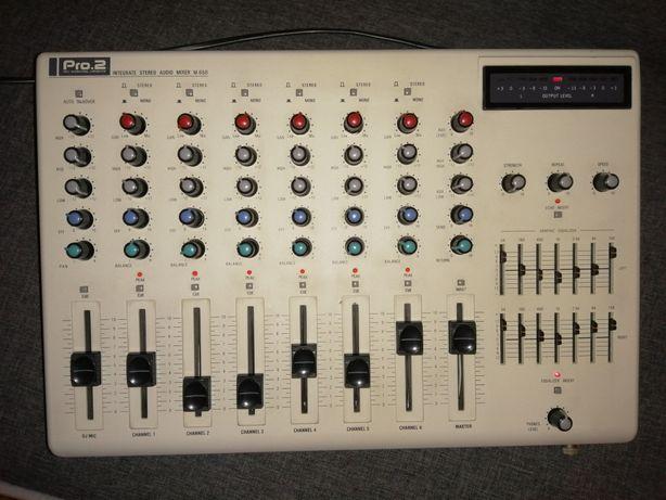 Mesa de som de 6 canais: PRO.2 Integrated Stereo Audio Mixer M-650