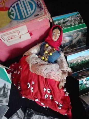 Starocie po porządkach stara lalka puzderko stare zdjęcia