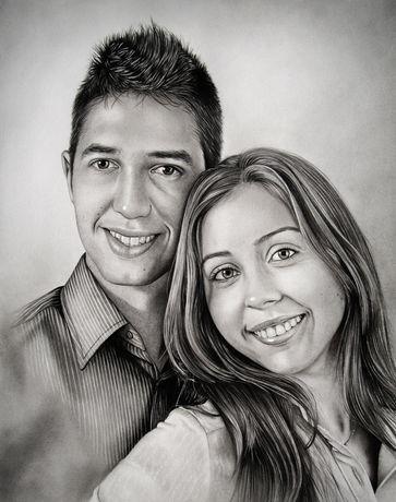 Desenho de rostos realistas