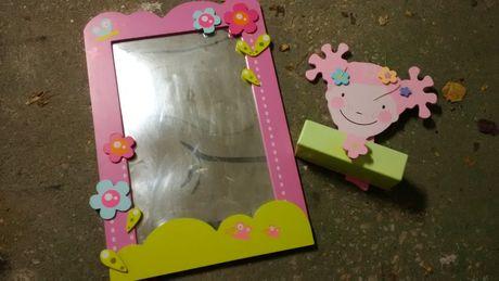 Espelho e gaveta pequena para menina vertbaudet