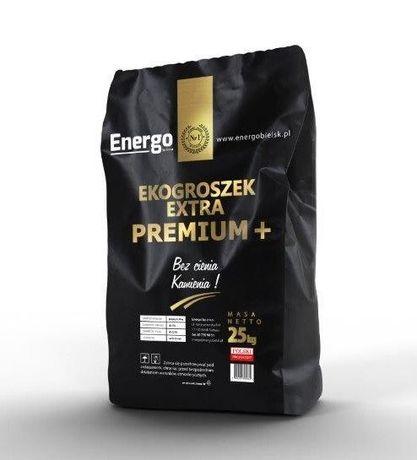 Oryginalny Ekogroszek PREMIUM PLUS 28 popiół 3% lew skarbek gold