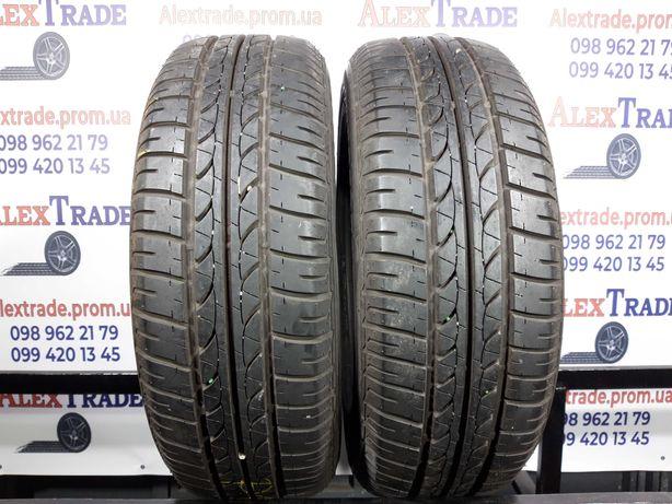 2шт.185/60 R15 Bridgestone B250 летние шины бу, протектор 8мм