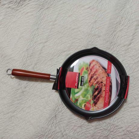 Florina patelnia  grillowa 24cm okrągła