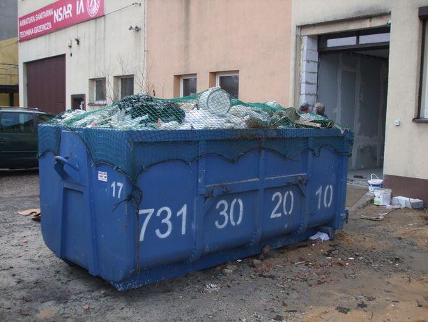 Wywóz kontener utylizacja odpadów budowlanych gruz papa śmieci wełna