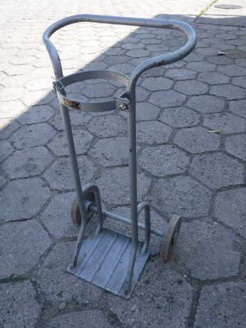 Wózek stojak spawalniczy do przewozu butli z gazem