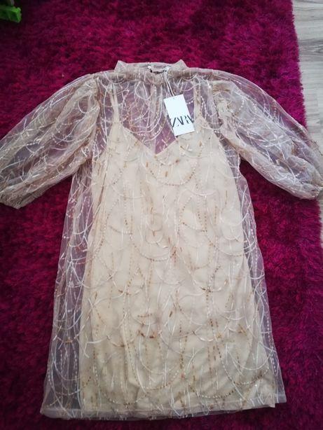 Nowa sukienka Zara cekiny roz. M/L
