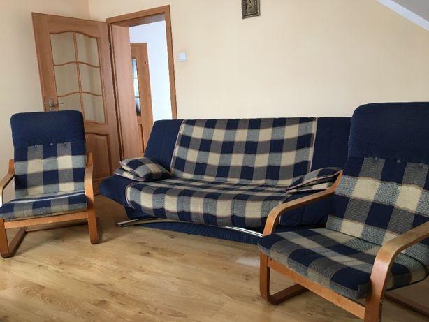 Zestaw wypoczynkowy, wersalka składana z 2 fotelami kompl, szafka RTV