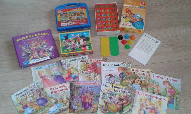 Klocki bajki gry edukacyjne dla dzieci zestaw zabawa nauka