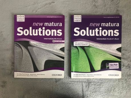New matura Solutions Intermediate podręcznik+ćwiczenia+CD+dodatek