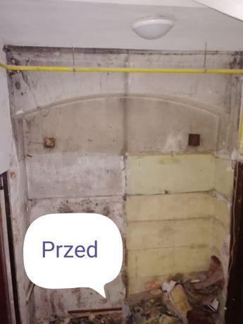 Piaskowanie. Renowacja cegieł.