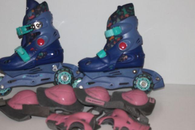 Rolki Martes Skates Boy 78038 Navy Jungle 30-33 + ochraniacze