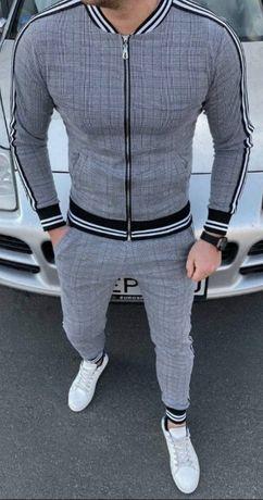 Мужской чоловічий спортивный спортивний костюм с лампасами Джентльмен